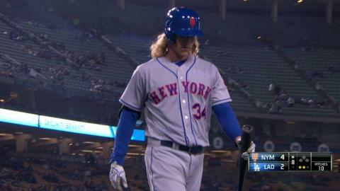 NYM@LAD: Blanton strikes out Syndergaard swinging