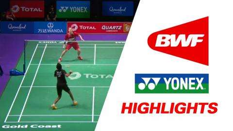 TOTAL BWF Sudirman Cup 2017 | Badminton Day 2 Grp 1D-DEN vs IND – Highlights