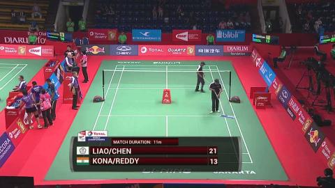 TOTAL BWF World Championships 2015 | Badminton Day 1 R64 M1-XD | Lia/Che vs Kon/Red