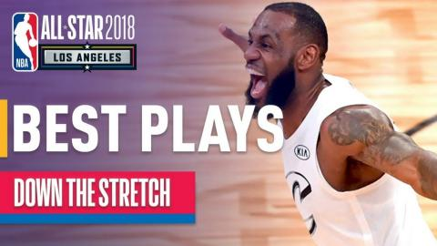 Team LeBron vs Team Stephen INTENSE 4th Quarter   2018 NBA All-Star Game