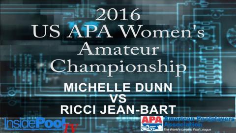 2016 U S  APA Womens Amateur Championship Michelle Dunn vs Ricci Jean Bart