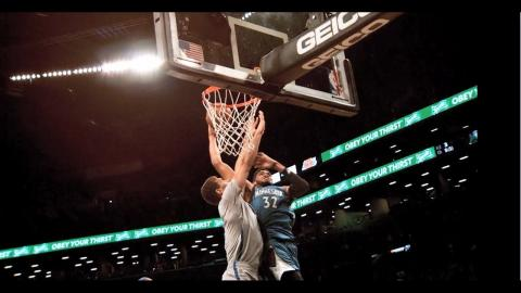 Karl-Anthony Towns Poster Dunk in Slow Motion!