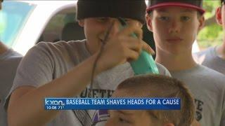 Baseball Team Shaves Heads In Support Of Teammate