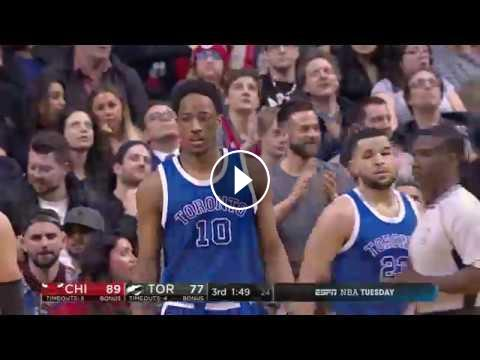 f284c9fef387 The Toronto Raptors DeMar DeRozan scores 42 Points but the Bull Jimmy  Butler scores 37 of his own. Watch as two of the NBA s best wing players  battle .