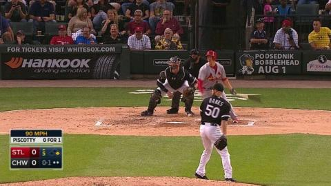 STL@CWS: Piscotty notches his first career double