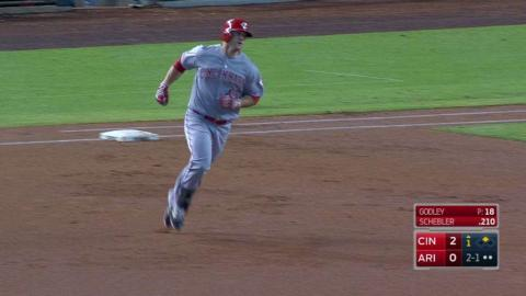 CIN@ARI: Schebler tacks on two runs with a deep homer