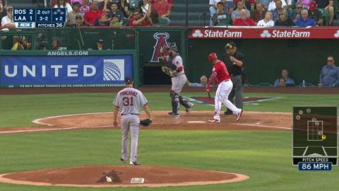 BOS@LAA: Pomeranz fans Petit to end the frame