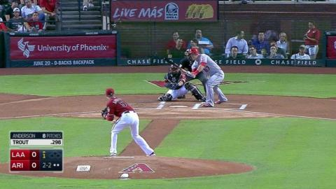 LAA@ARI: Anderson fans Trout to end the frame