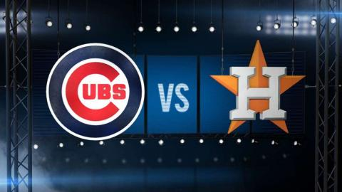 9/10/16: Astros use early burst, pitching to top Cubs