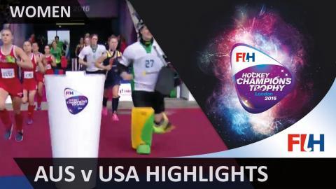 Australia v USA Match Highlights #HCT2016