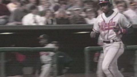 1995 NLDS Gm1: Grissom hits a solo home run in 3rd