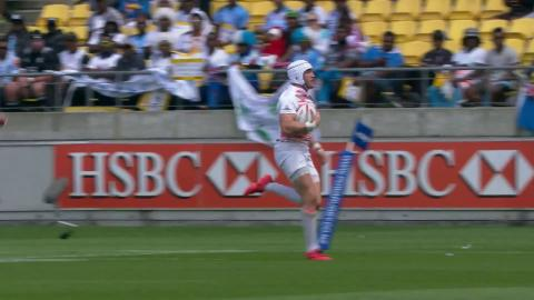 James Fleming makes a TRY SAVING TACKLE to beat England!