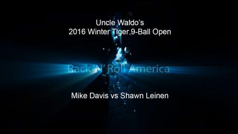 2016 Tiger Tour Winter 9 Ball Open Mike Davis vs Shawn Leinen