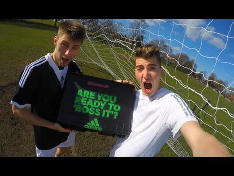 CRAZY ADIDAS PACKAGE - Football Challenges vs. MY BRO!