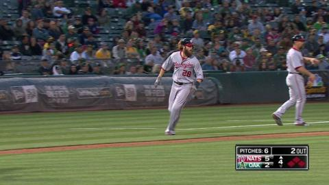 WSH@OAK: Zimmerman extends lead with an RBI single