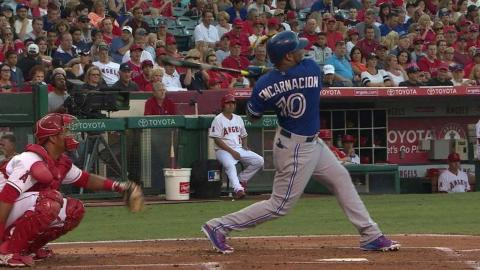 TOR@LAA: Encarnacion extends hitting streak to 18