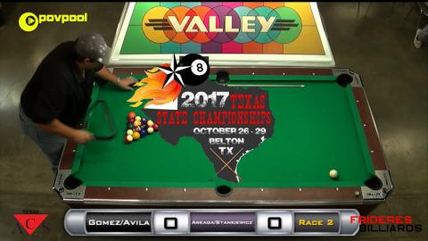 #10 Gomez/Avila vs Ybarra/Chaney / Texas ACS 2017 State 8 Ball