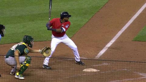 OAK@MIN: Nunez lines an RBI single to right field