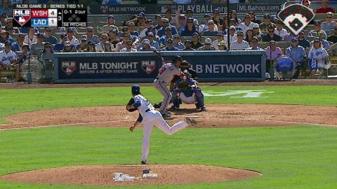 WSH@LAD Gm3: Espinosa gets hit by a pitch in the 3rd