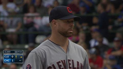 CLE@CHC: Kluber flirts with perfection in no-decision