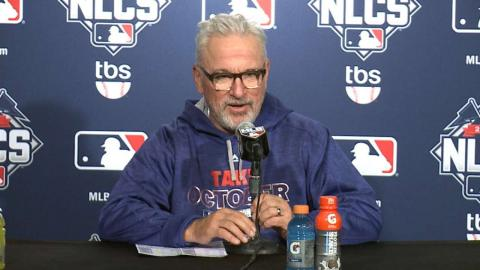 NLCS Gm3: Maddon on Mets' pitching, Cubs' Game 3 loss
