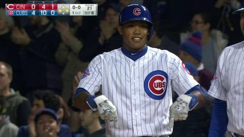 CIN@CHC: Russell pokes an RBI single to right
