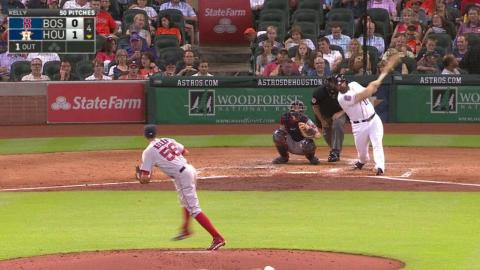 BOS@HOU: Gattis hammers solo homer to left field