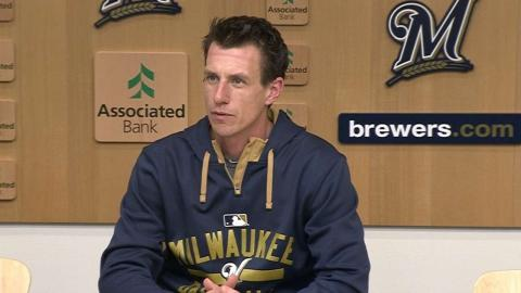 SF@MIL: Counsell on offensive woes, loss to Giants