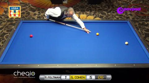 #6 • G. COHEN vs P. FELTMAN - 2017 USBA 3-Cushion National Championship