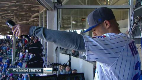 COL@CHC: Mayers sings during stretch
