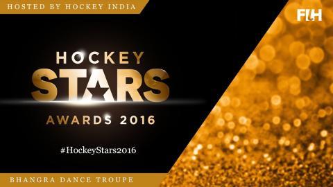 The Bhangra Dance Troupe open the Hockey Stars Awards Ceremony #Hockey