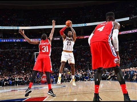 LeBron James One Rebound Shy of Triple Double