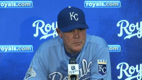 BOS@KC: Yost on Royals' Game 1 victory vs. Red Sox