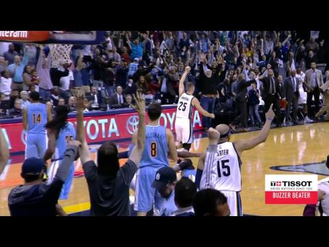 Tissot Buzzer Beater: Marc Gasol Tips in the Shot for the Win!