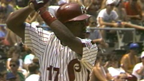 Jordan homers in first big league at-bat