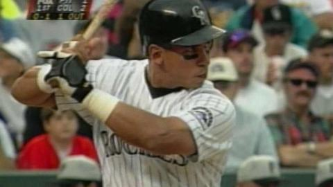 Andres Galarraga hits his 30th homer