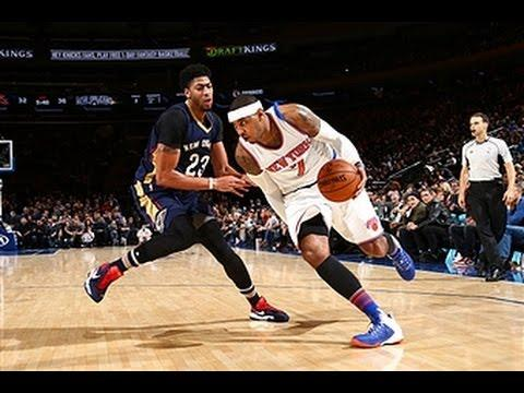 Anthony Davis and Carmelo Anthony Square Off at MSG