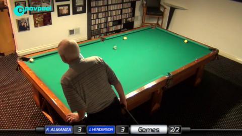 #4b • John HENDERSON vs Frank ALMANZA • James Boch's One Pocket Challenge