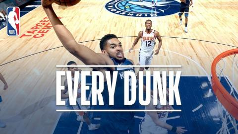 Karl-Anthony Towns, Trevor Booker, and Every Dunk From Sunday | November 26, 2017