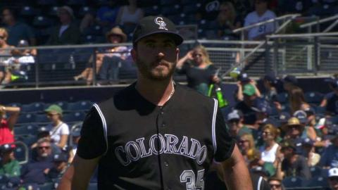 COL@SD: Bettis retires Solarte with a strikeout