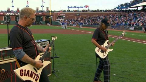CHC@SF: Metallica plays national anthem at AT&T Park