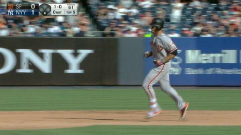 SF@NYY: Williamson launches a solo home run