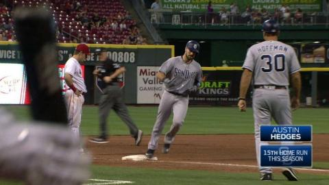 SD@CIN: Hedges hammers a solo homer to right field