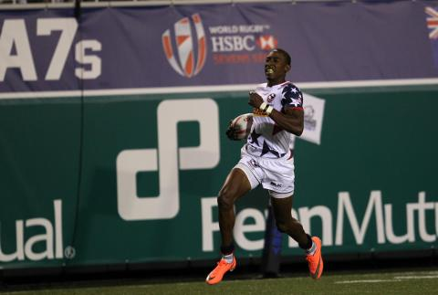 One of the fastest players in rugby! It's Perry Baker!