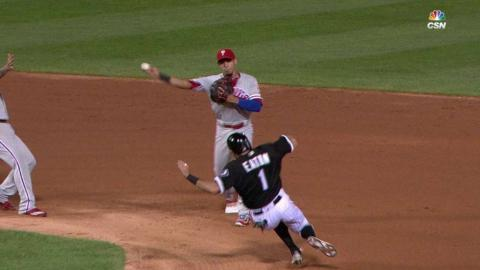 PHI@CWS: Phillies turn 6-4-3 double play
