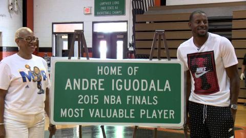 Andre Iguodala, Hometown Hero