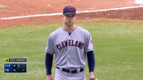 CLE@TB: Kluber fans 14 batters over eight innings
