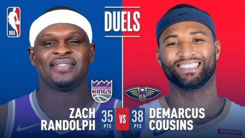 Big Man Duel Between Zach Randolph and DeMarcus Cousins | December 8, 2017