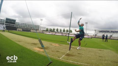 90mph Tymal Mills bowling during England net session