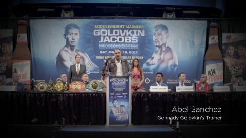The Buzz: Golovkin vs. Jacobs Press Conference (HBO Boxing)